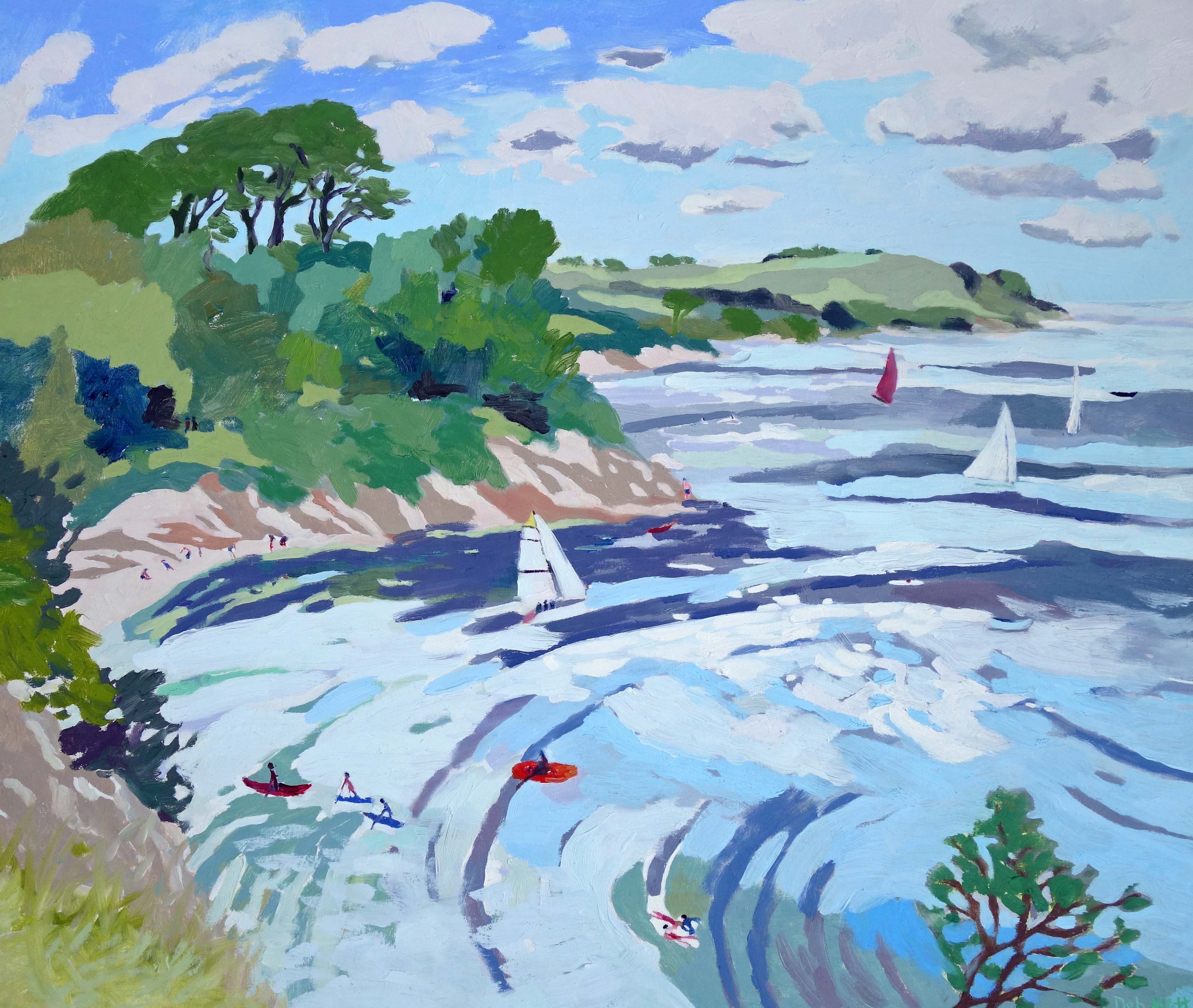 A Day on the Water, Helford Estuary. Oil on canvas. 60 x 70 cm.