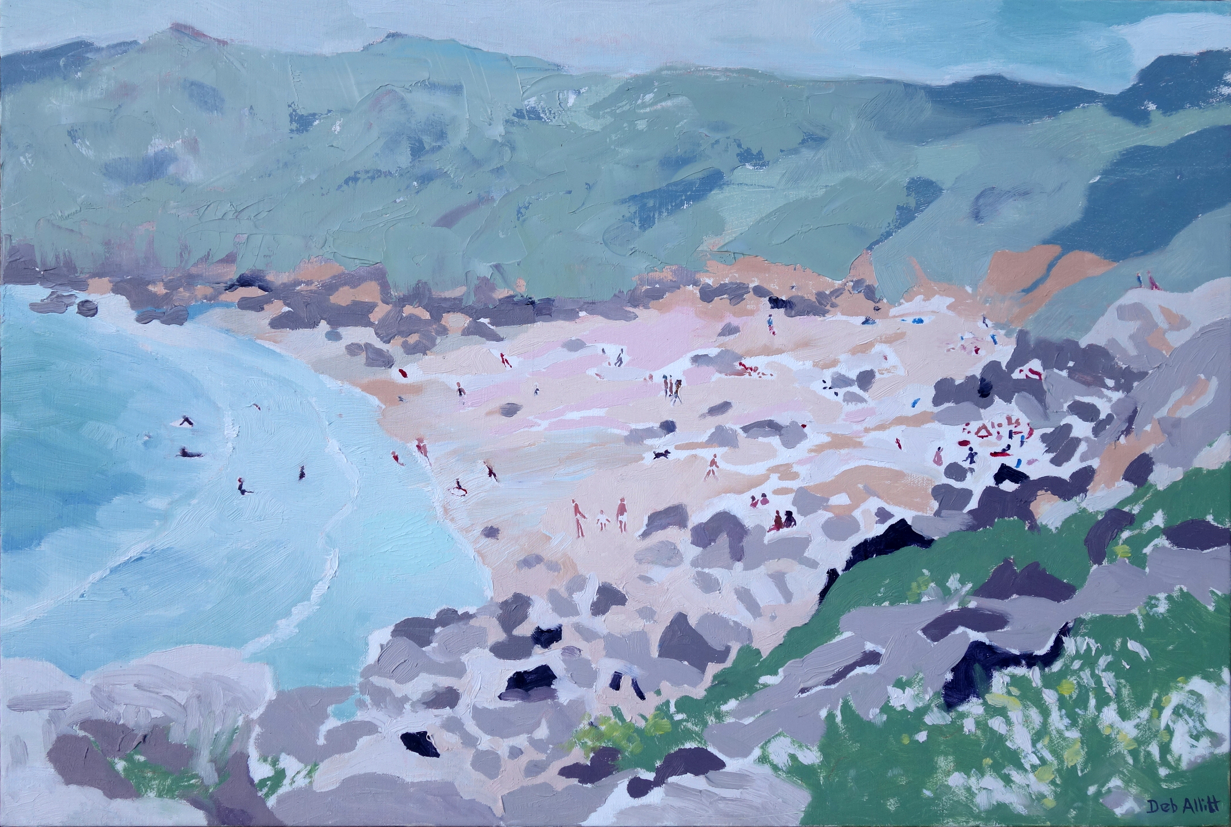 Porthbeer Cove. Oil on canvas. 40 x 60 cm.