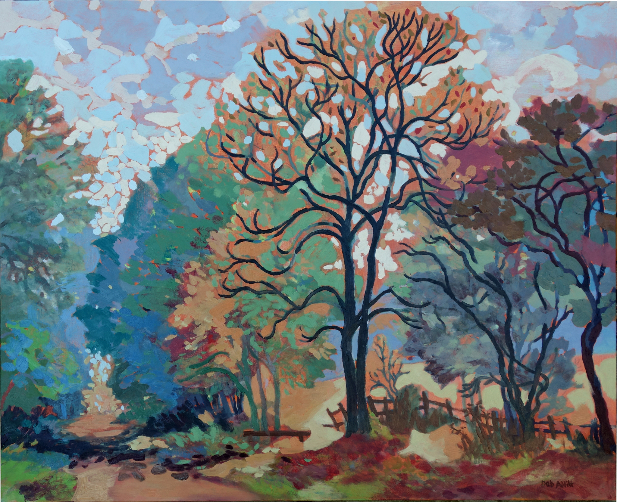 Autumn Trees Along an Old Lane. Oil on canvas. 80 x 100 cm (sold)