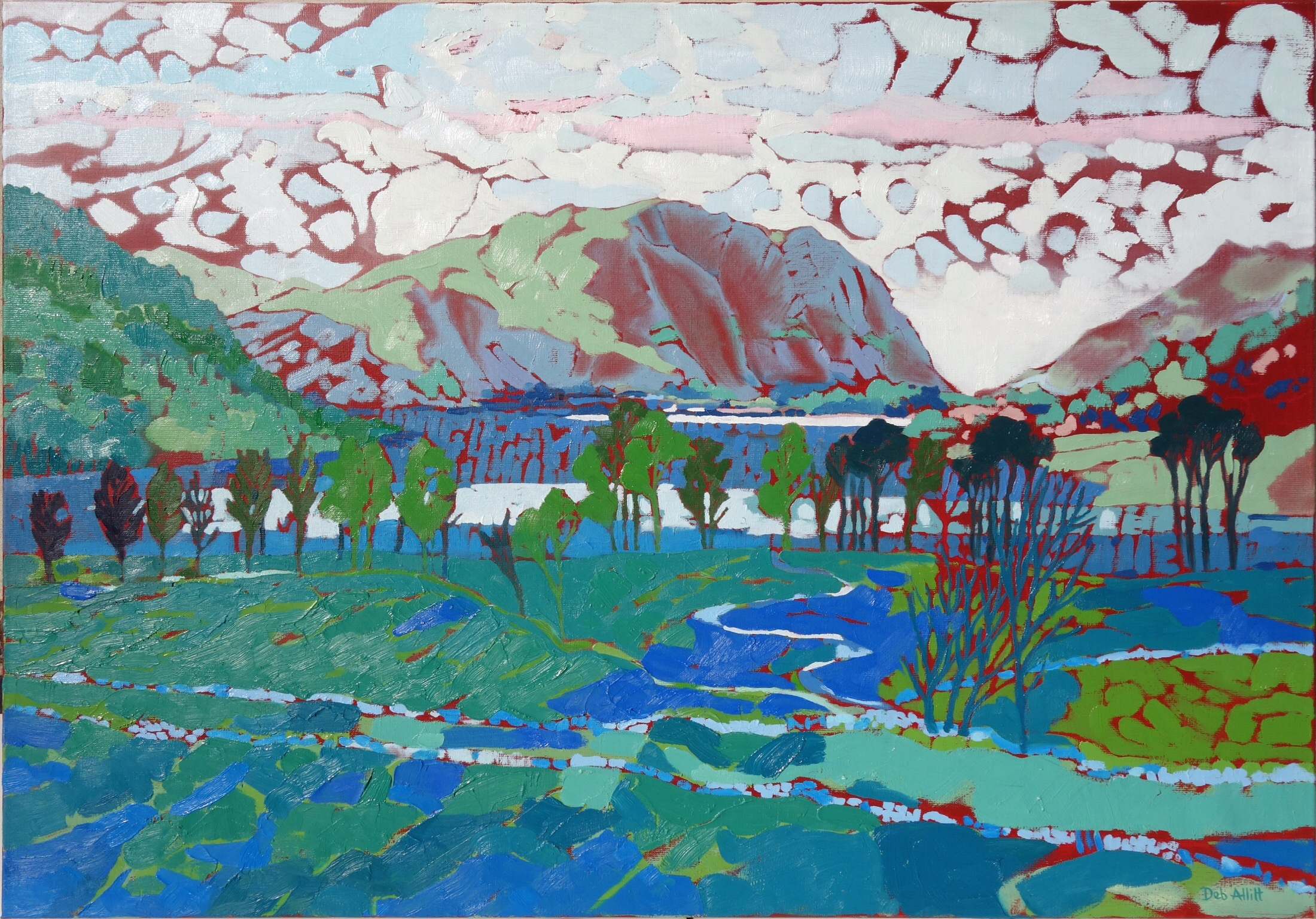 Buttermere Evening Sky. Oil on canvas. 70 x 100 cm.