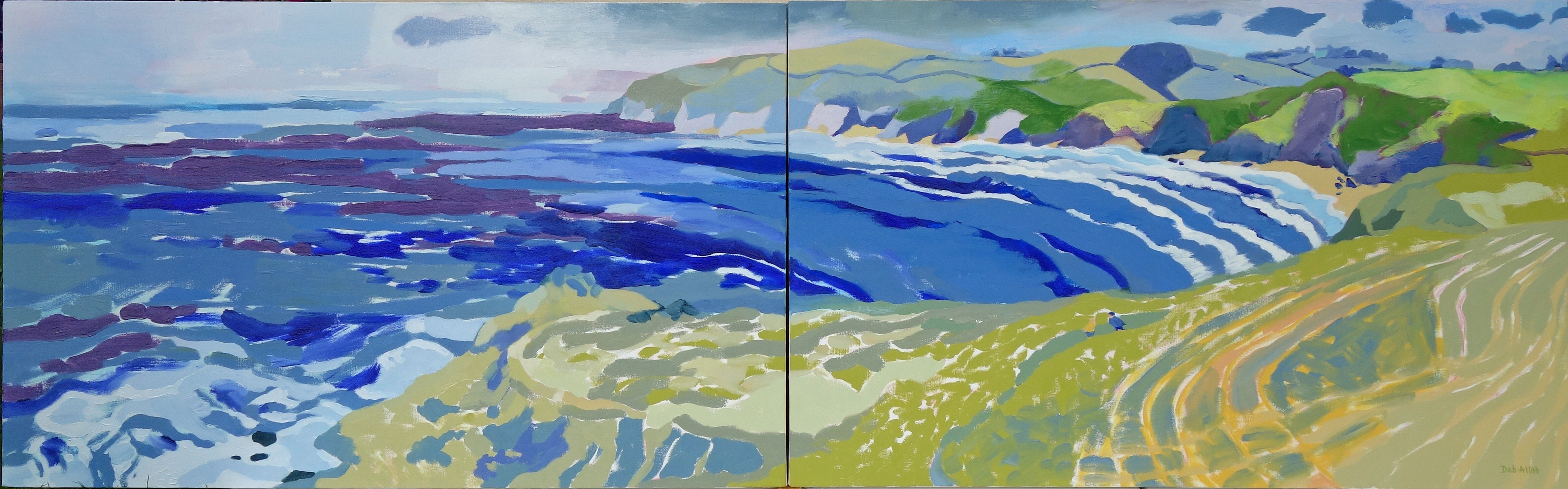 St Anthony Head. Oil on canvas. 60 x 194 cm. (Sold)