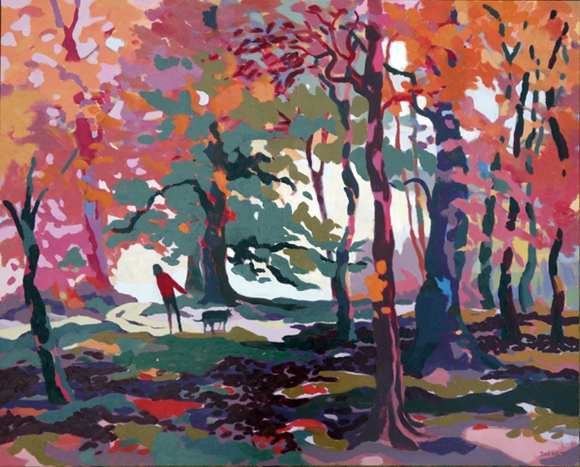 Autumn Time, Red Leaves Fall. Oil on canvas. 80 x 100 cm (sold)