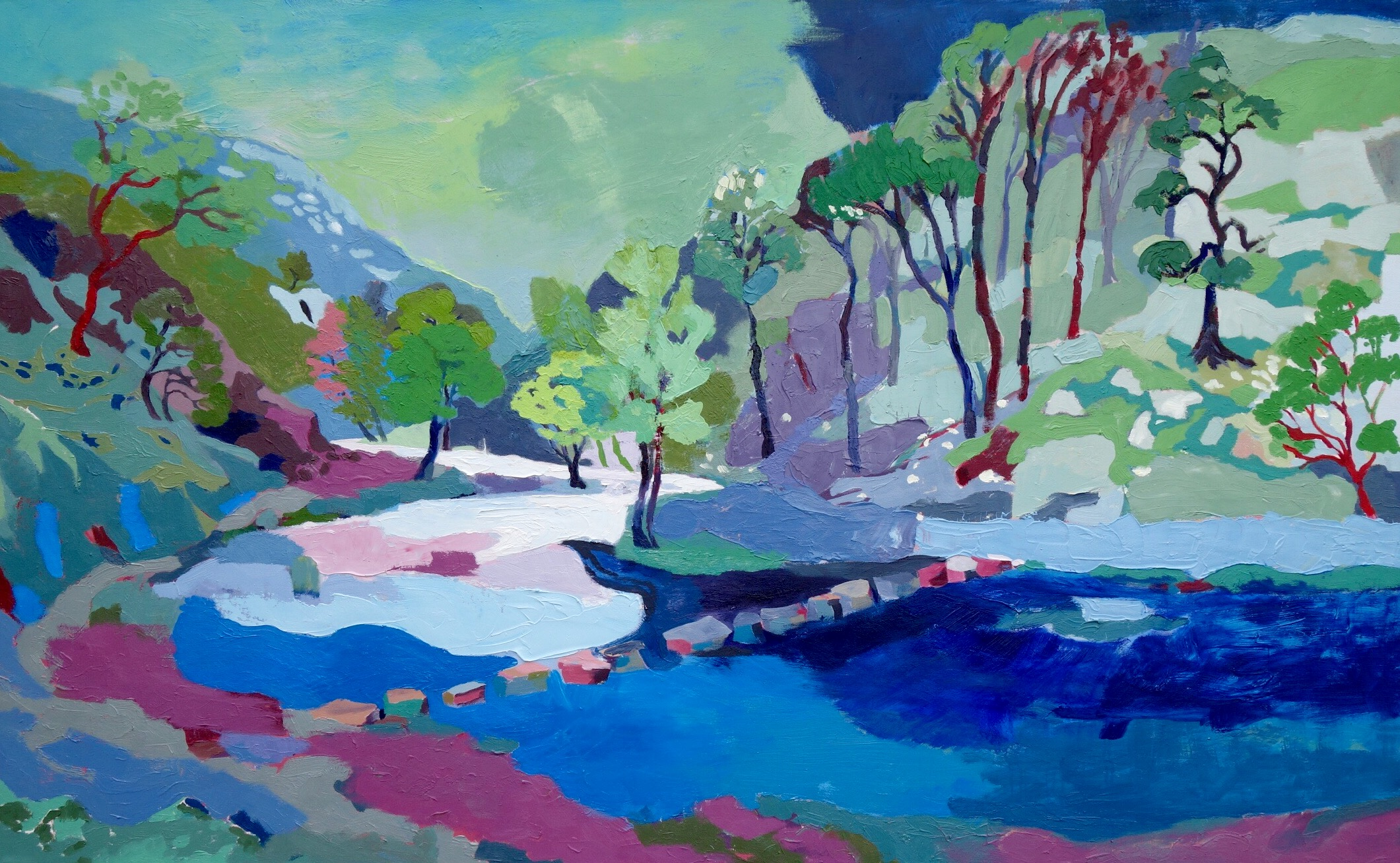 Dovedale Stormy Weather. Oil on canvas. 100 x 161.5 cm