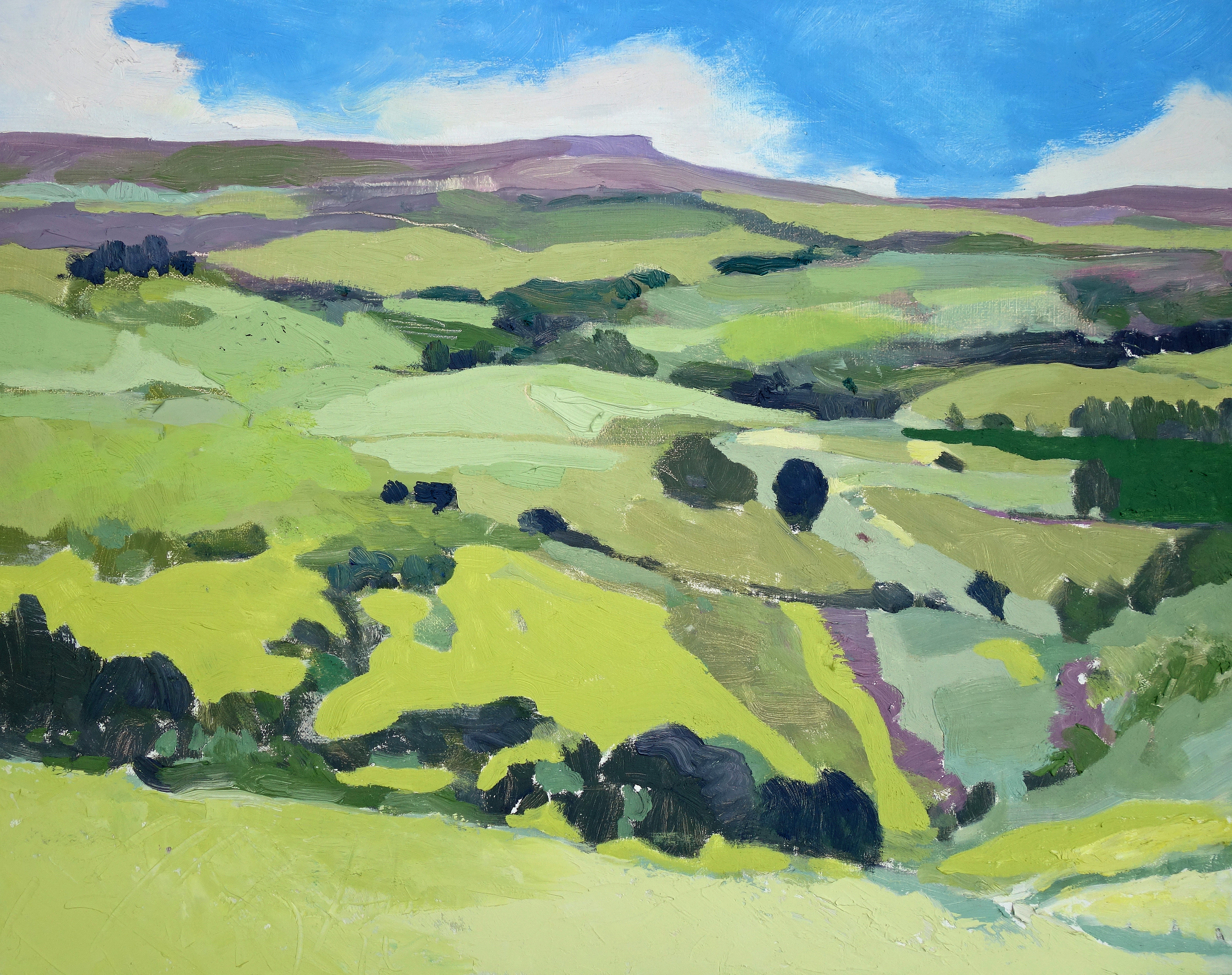 Stanage Edge on the Horizon. Oil on canvas. 40 x 50 cm.