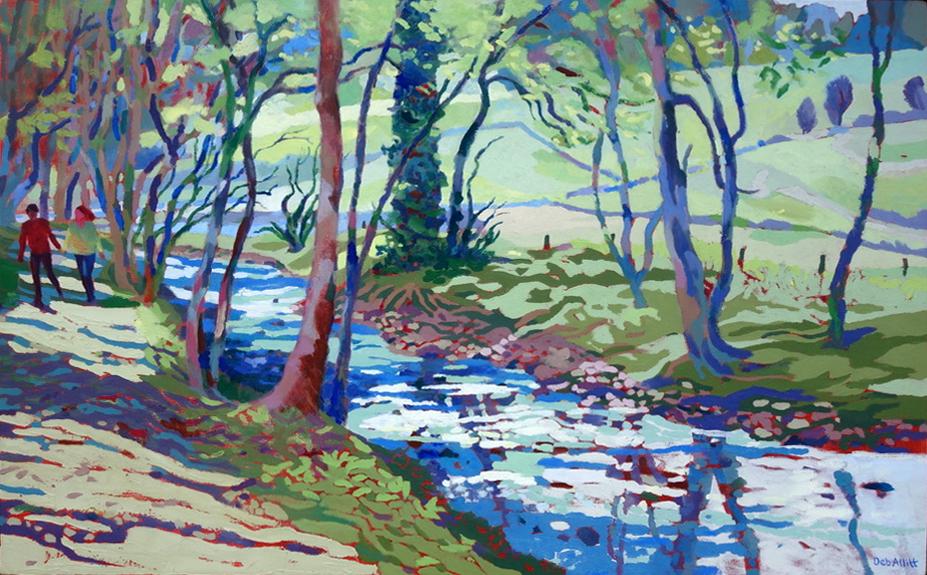 Paradise Walk, April Morning. Oil on canvas. 60 x 97 cm