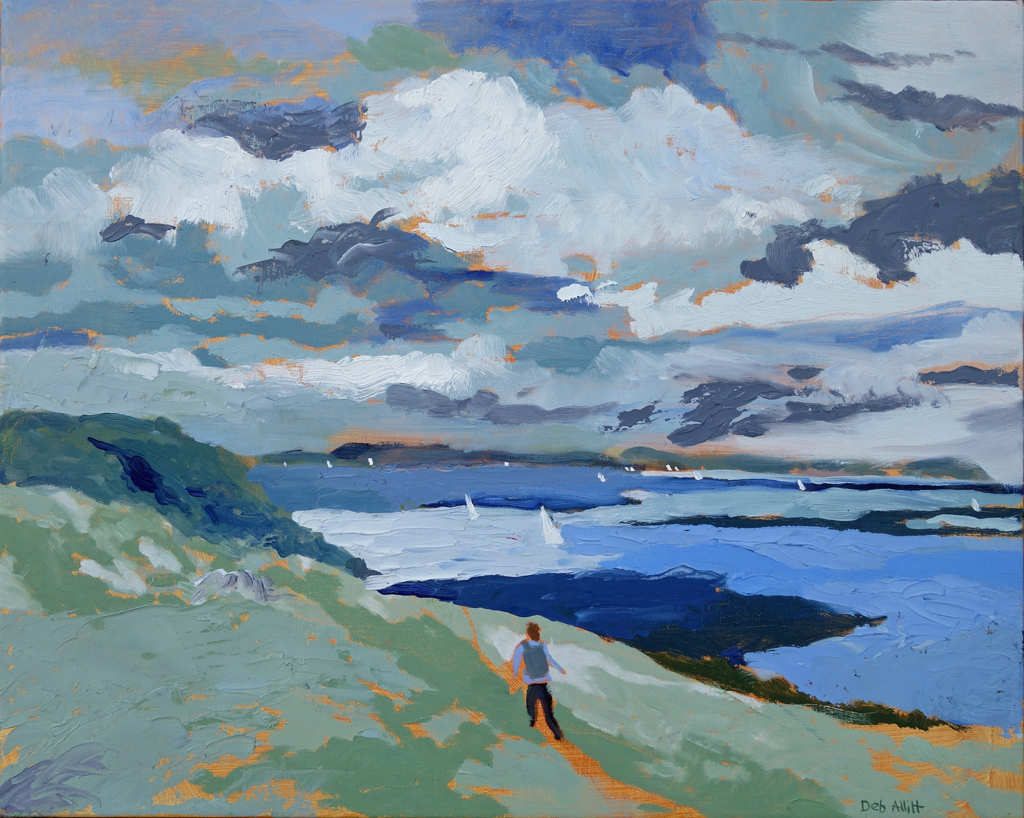Nare Head, Stormy Skies. Oil on canvas. 40 x 50 cm.