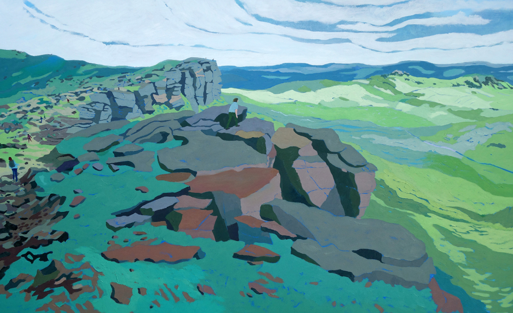 Stanage Edge on a Clear August Day. Oil on canvas. 100 x 161.5 cm.