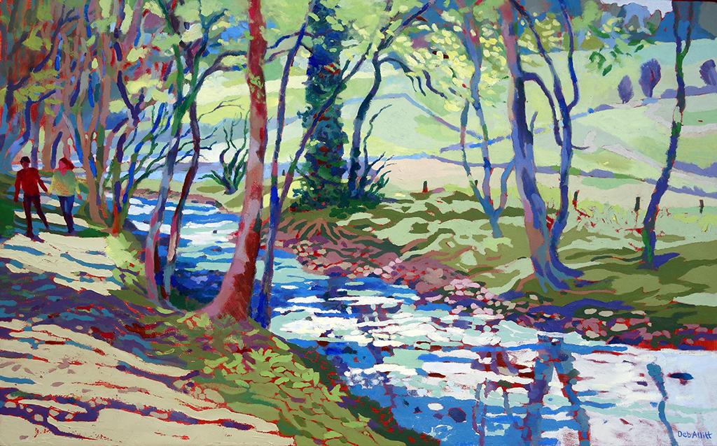 Paradise Walk April Morning. Oil on canvas. 60 x 97 cm