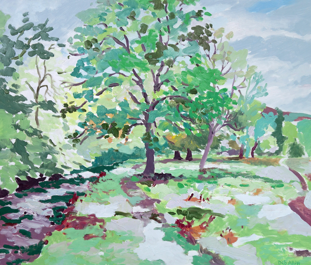 Trees Beside the River Aire. Oil on canvas. 60 x 70 cm.