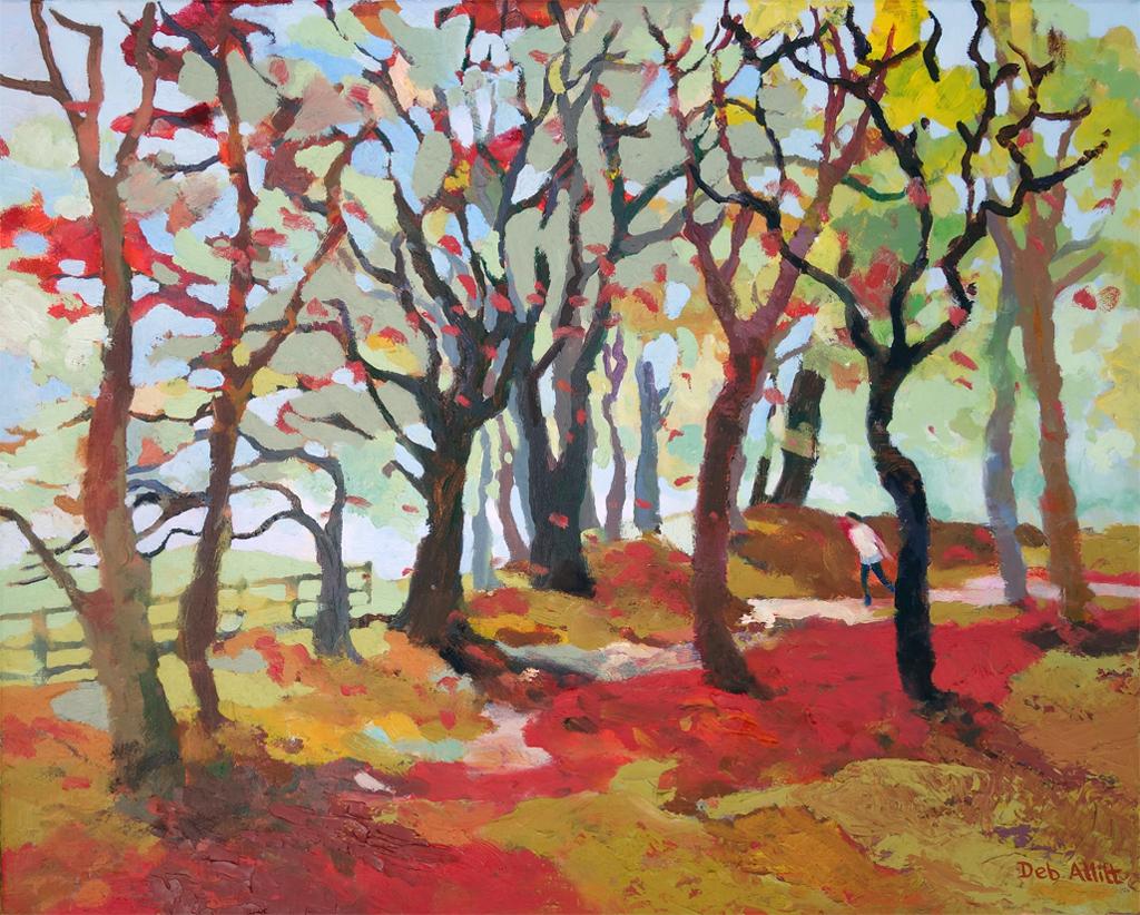Golden Autumn Woodland. Oil on canvas. 40 x 50 cm.