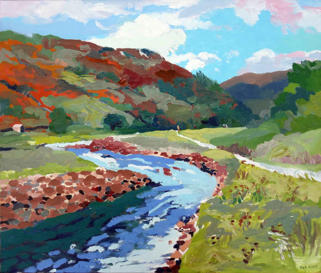The River Swale near Muker. Oil on canvas. 60 x 70 cm