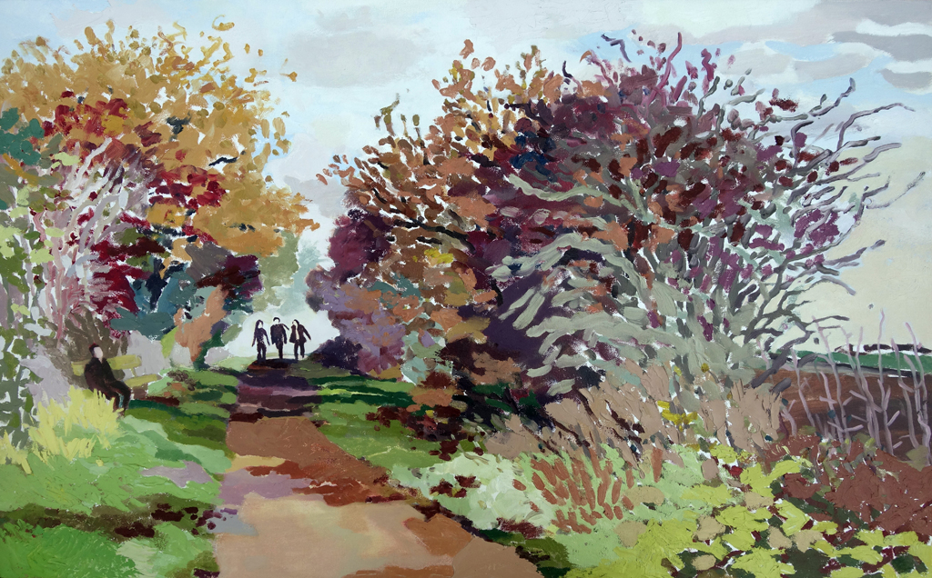 Autumn Breezes, Autumn Sunshine. Oil on canvas. 60 x 97 cm. (sold)
