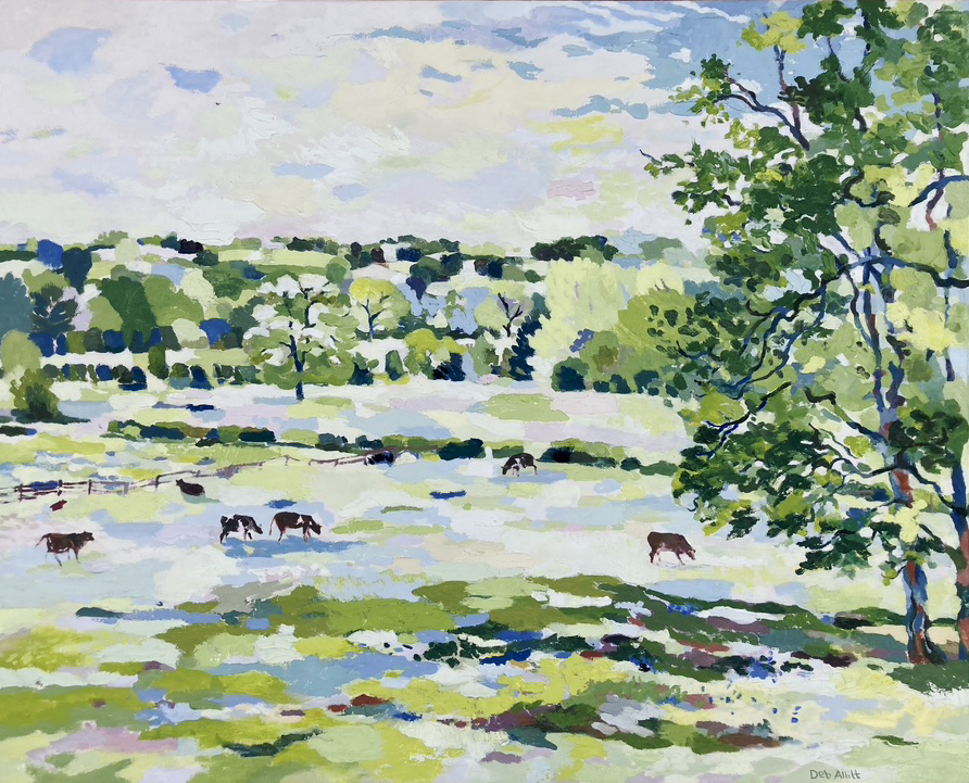 Ednaston View from the Garden in Springtime. Oil on canvas. 24 x 30 Inches. (Sold)