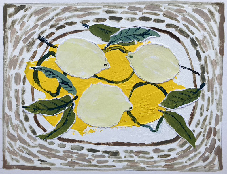 Lemons on a Plate inspired by Christine McArthur