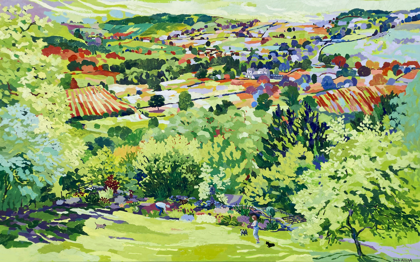 Amber Valley View. Oil on canvas. 100 x 160 cm (sold)